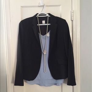 JCrew Size 10 Navy Blue Blazer Jacket